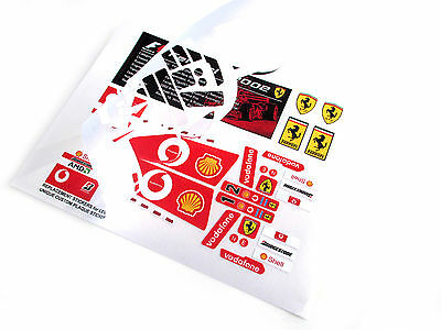 REPLACEMENT STICKERS for Lego 8386 FERRARI F1 RACER with EXTRA'S 'DIE CUT' 3