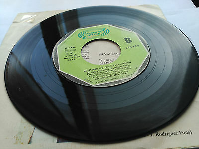 "Single Enrique Pastor ""pastoret"" - Mi Valencia F.c. - Movieplay 1977 Vg/vg+"