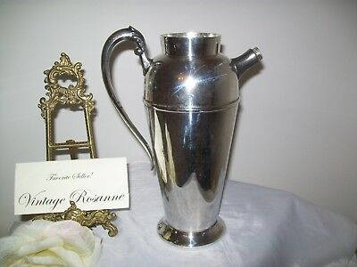 Silver Plated Pitcher Victorian Plate Canada Vintage Coffee Martini Serve Vase 8