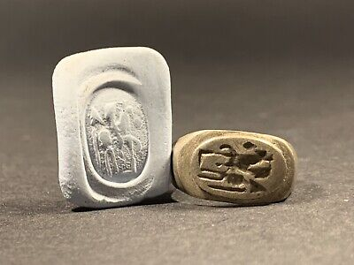 Ancient Roman Silver Legionnaire Seal Ring Depicting Horse & Rider - Circa 100Ad 2