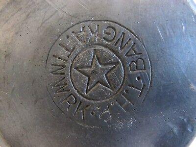 RAR ältere Zinn Dose mit Stempel BANGKA Tiwrk T.H.P. Aufbewahrungsbehälter 6