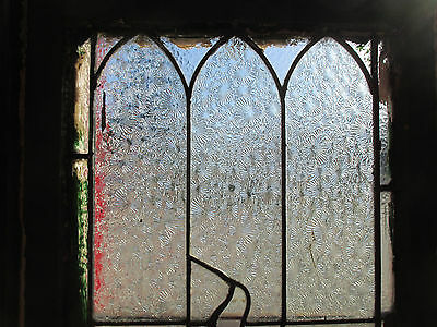 ~ Antique American Stained Glass Window Torch 16 X 51 Architectural Salvage ~ 3
