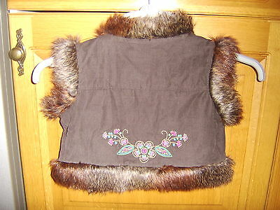 Gap Girls Lined Gilet, Age 6-7 Years, Very Good Condition 4