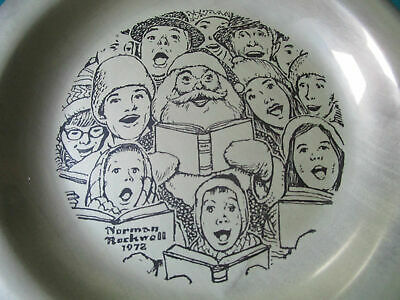 """Sterling 925 PLATES NORMAN ROCKWELL CHRISTMAS FRANKLIN MINT 8"""" -1971/75 - PICK 1 7"""