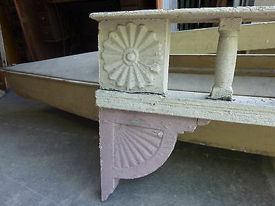 c1882 VICTORIAN GINGERBREAD porch spandrel FRETWORK pediment ~ FANCY 90.5 x 25.5 5