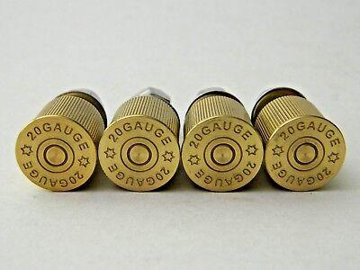 NEW 4 pk Milwaukee Twins 20 Gauge Brass Shotgun Shell Bullet License Plate Bolts 2
