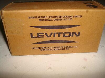 Vintage Leviton  Bakelite 2 Single Pole Quiet Toggle Switches New Old Stock 4