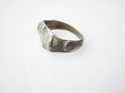 Superb ANCIENT RARE Viking Silver FINGER RING  Signet  ca 8 - 10 century AD #1 3