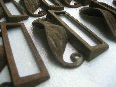 c1880 SET of 12 matching authentic VICTORIAN cabinet pull hardware 3.5 on holes 6