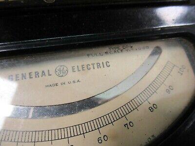 Vintage General Electric Type DP-9 DC Voltmeter Model 8DP9ABA1 Test Unit 5
