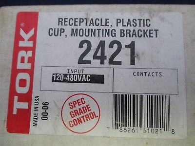 Tork Receptacle, Plastic Cup, Mounting Bracket 2421 new