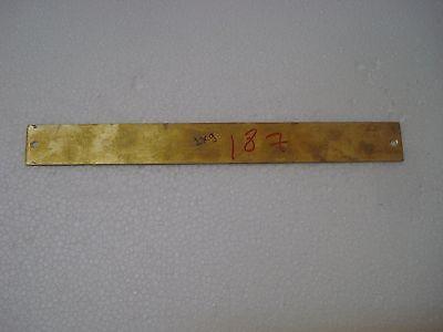 9 x 1 Inches 187 ENGINE ROOM – Marine BRASS Door Sign Boat//Nautical