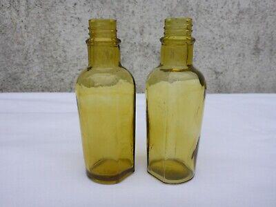 2x alte kleine Medizin Glas Apotheke Apotheker Flasche Maria Zeller Magentropfen