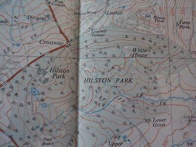"Ordnance Survey 2.5"" Map SO41 Rockwell 1956 Cross Ash, Penchos, Hilston Park 4"
