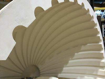 2 Fluted NICHE CAP SHELLS (Handmade) Absolute Spectacular! Achitectural Plaster 7