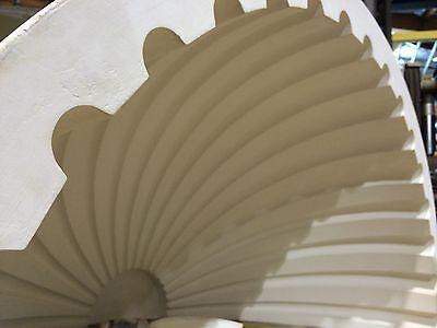 2 Fluted NICHE CAP SHELLS (Handmade) Absolute Spectacular! Achitectural Plaster 7