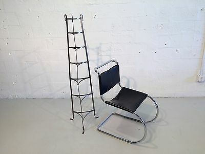 industrial hand-forged plant stand mixing bowl rack shelf 1930s metal 10