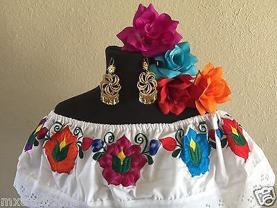 Mexican Dress Fiesta5 De Mayowedding White 2 Piecevestido
