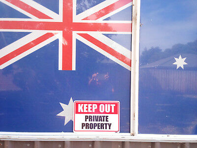 Keep Out Private Property Metal Safety Sign 600x450mm Fast Delivery 2