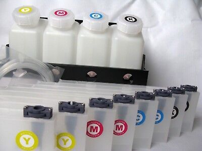4 bottles,8 Cartridge Bulk Ink Supply System For Roland FH-740 / XF-640 / XR-640 2