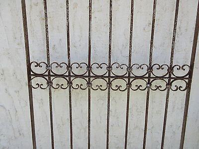 Antique Victorian Iron Gate Window Garden Fence Architectural Salvage Door #383 3