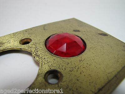Antique Architectural Red Jeweled Glass Electrical Switch Cover Outlet Hardware 9