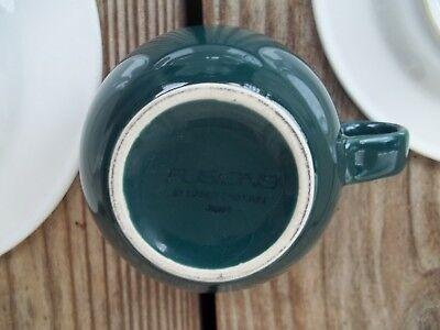 Nancy Calhoun Fusions Evergreen Raspberry Set Dinner Salad Plate Coffee Cup 4 PC 10