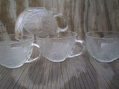 Arcopal France Dishes Aspen Leaf Clear Glass Cups Set Of 4 4