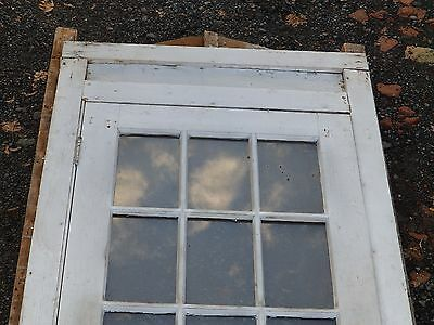 Antique Entry Way French Door With Surround Gingerbread Pediment Old 3903-14 9