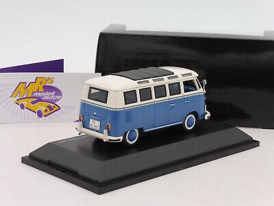 """Schuco 03563 # Volkswagen VW Bus T1b Samba Baujahr 1964 in """" blau-weiß """" 1:43 3"""