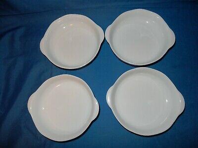 "Set of 4 Studio Nova 7.25"" x6 3/8 Lug Handle Solid White Soup Cereal Salad Bowls 2"