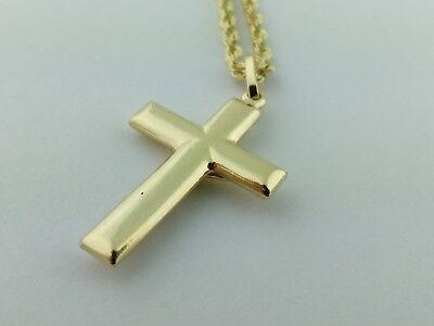 14K Gold Italian Cross très élégant Cristo Italiano de oro de 14K