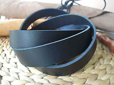 190cm EXTRA LONG BLACK  3.4 to 3.8mm THICK REAL LEATHER STRAP VARIOUS WIDTHS