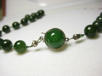 magasin en ligne be195 95628 COLLIER ANTIQUE JADE 100% Nature Bijoux Collier de Perles Pierre