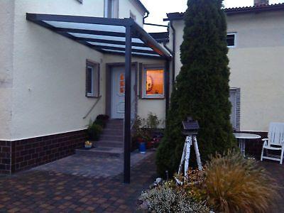 Terrassendach Alu Sonnenschutz-Stegplatten klar Terrassenüberdachung 6 m breit 10