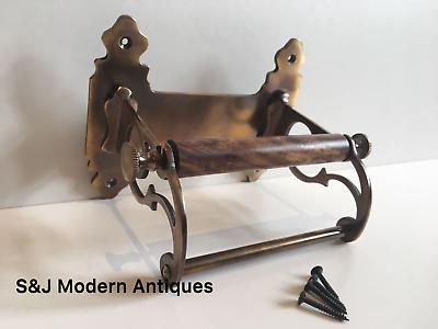 Vintage Toilet Roll Holder Victorian Antique Copper Bronze Edwardian Unusual Old 10