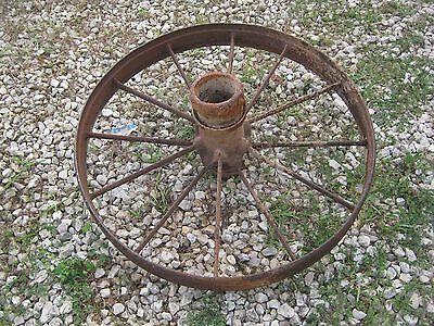 """2 pcs Vintage Rustic Iron Farm Implement Wheel Farm decor 31"""" diameter 4"""" thick 4"""