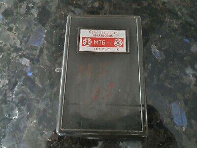 Rockwell hardness measuring Blocks (200±50) HB 10/3000/10  USSR Top Grade! 2pcs 8