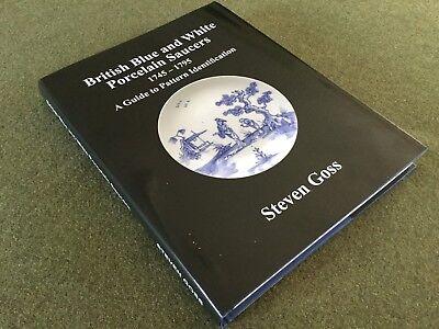 British Blue & White Porcelain Saucers. Over 480 patterns illustrated. Hardback 4