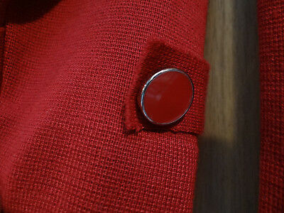 CLASSY Deluxe Amber Sun Brick Rusty Red Lovely XS S Cardigan Sweater NWOT 4