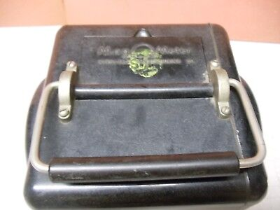 Vintage 1945 MEGOHMMETER for MEGOHMS by Interstate Manufacturing Company 5