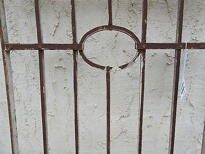 Antique Victorian Iron Gate Window Garden Fence Architectural Salvage Door #75 5