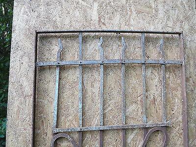 Antique Victorian Iron Gate Window Garden Fence Architectural Salvage Door FFF 5