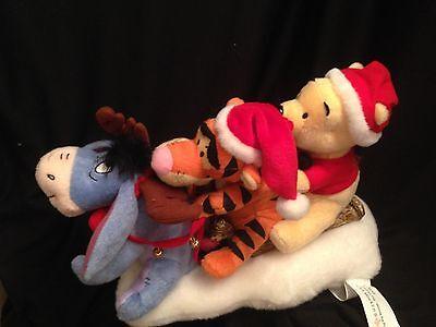 disney winnie pooh tigger eeyore christmas animated musical plush