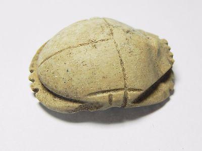 Zurqieh -Af960-  Ancient Egypt - Stone Button Scarab , 664 - 332  B.c 3