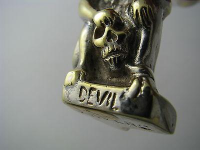 """A CONTINENTAL BRASS DOOR KNOCKER DOORKNOCKER """"Devil"""" Anvers Belgium ca1950s Rare 11"""