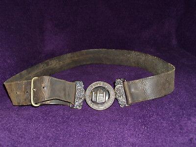 Rare Victorian Silver Tower Hamlets Rifles Officers Belt Buckle & Belt/Militaria 5