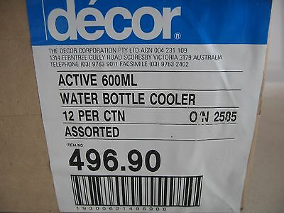 BULK LOT DECOR 600ml DRINK BOTTLE COOLERS, BLUE & GREEN x 12
