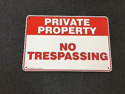 Private Property - No Trespassing METAL Safety Sign 200x300mm 2