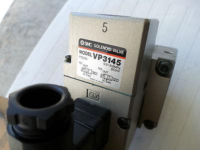 "SMC PNUEMATICS HIGH CAPACITY SOLENOID VALVE - 3/4"" Ports 24DC coils VP-3145-065"
